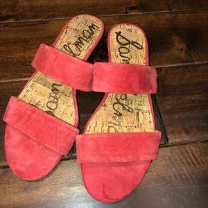 Women's size 7 red Sam Edelman sandals